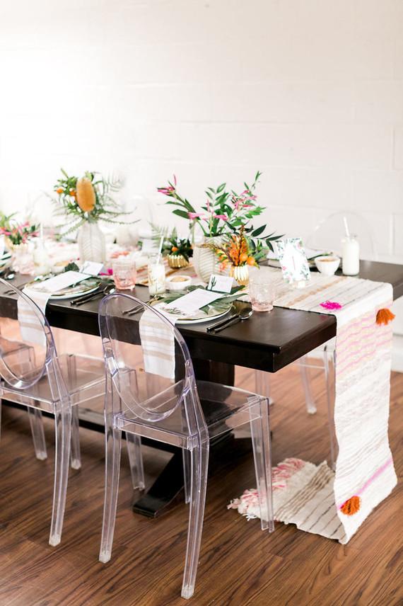 Modern tablescape