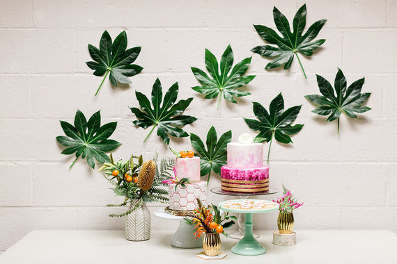 Tropical dessert table