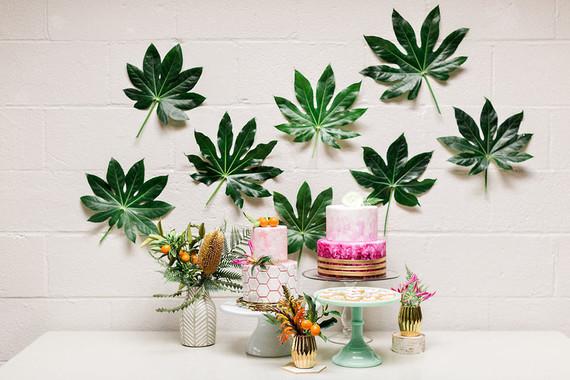 Tropical dessert table