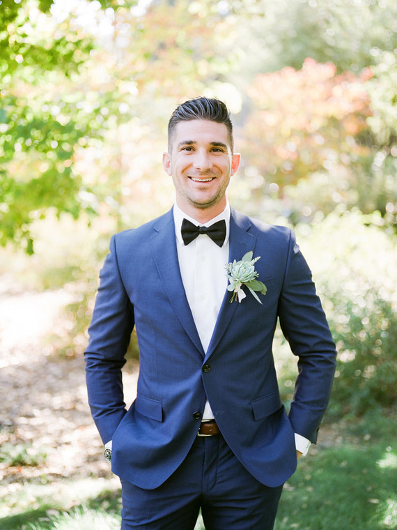 Navy groom's suit