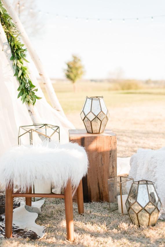 Boho wedding decor
