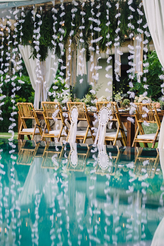 Bohemian wedding in bali destination wedding 100 layer for Bali wedding decoration ideas