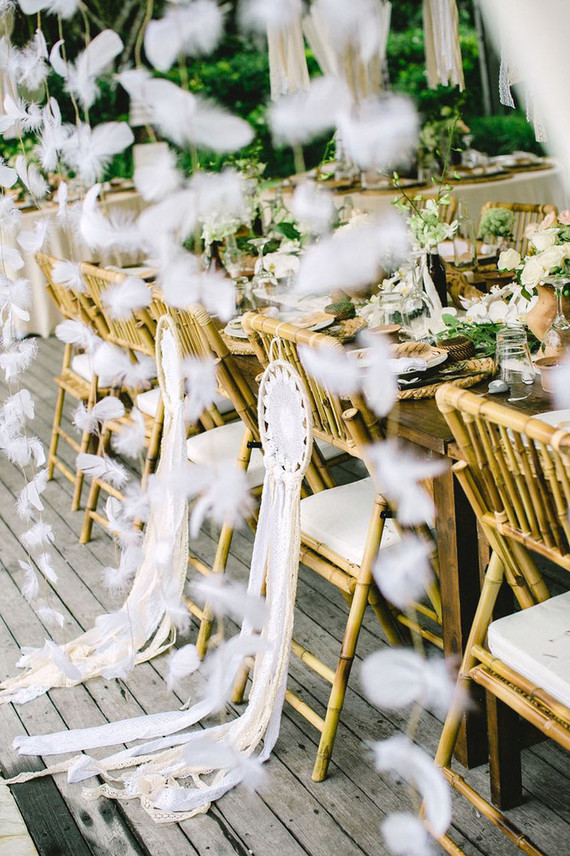 Dreamcatcher wedding decor