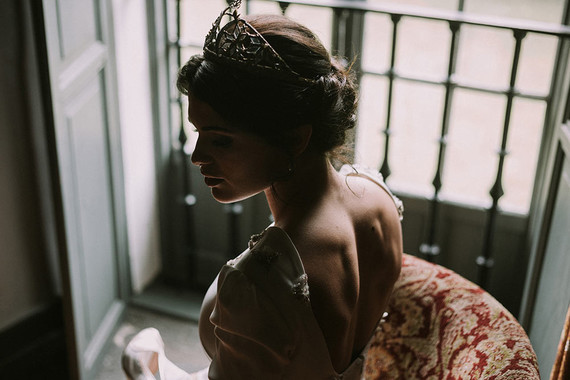 Moody bridal portrait