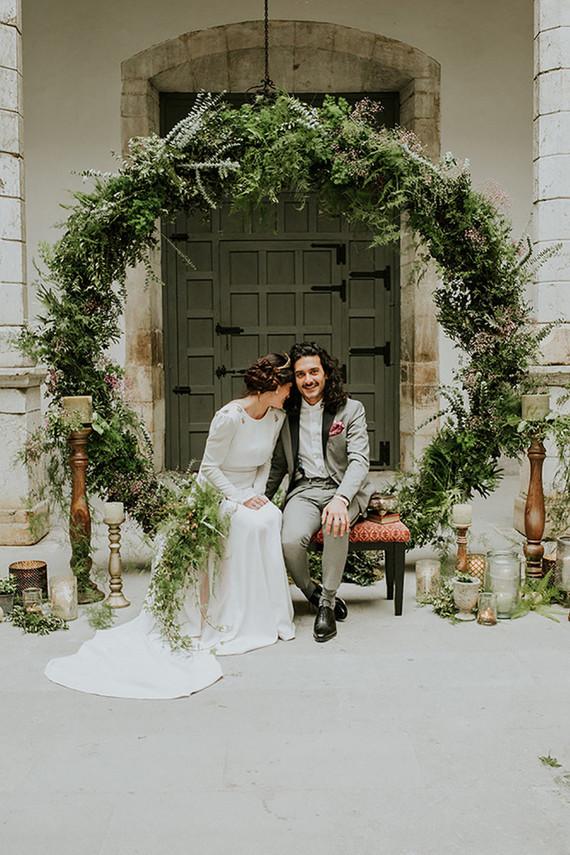 Moody spring wedding inspiration 100 layer cake wedding ceremony greenery junglespirit Choice Image