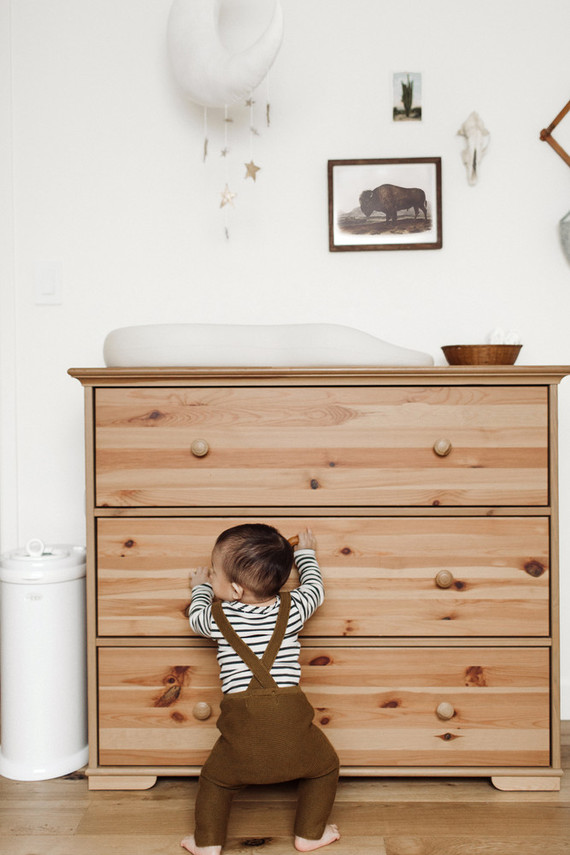 Modern vintage boy's nursery