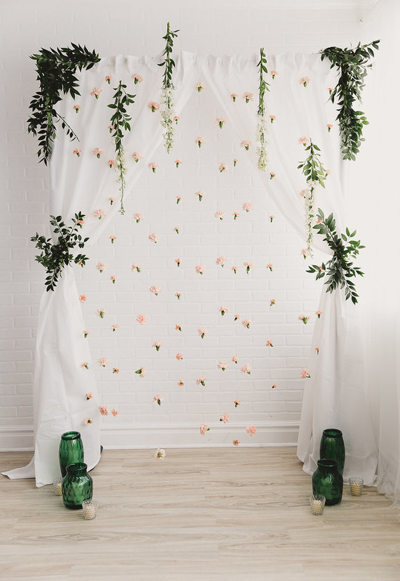 Peach floral backdrop