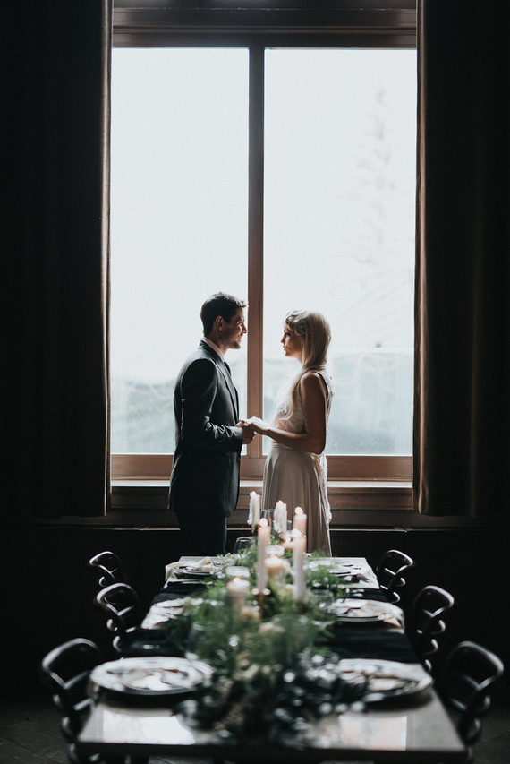 Moody lunar-inspired wedding inspiration
