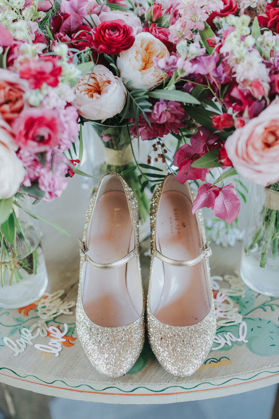 Gold Kate Spade heels