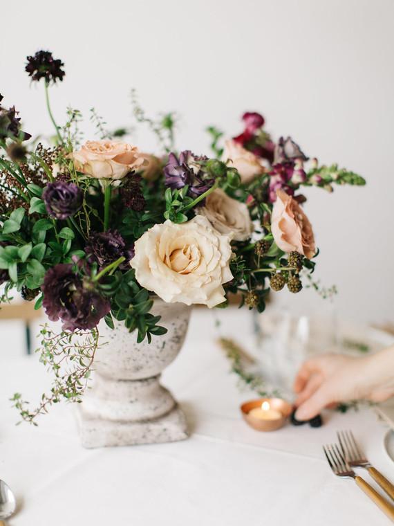 Organic floral arrangement