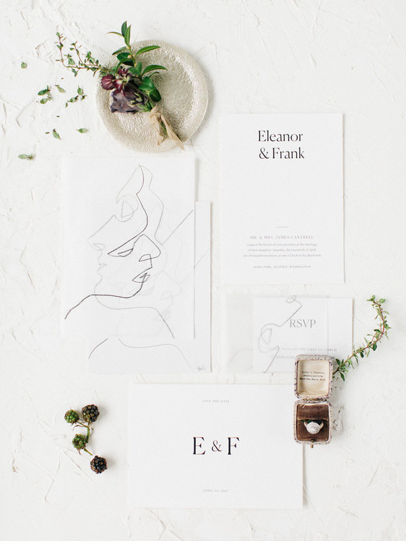 Organic wedding invitations