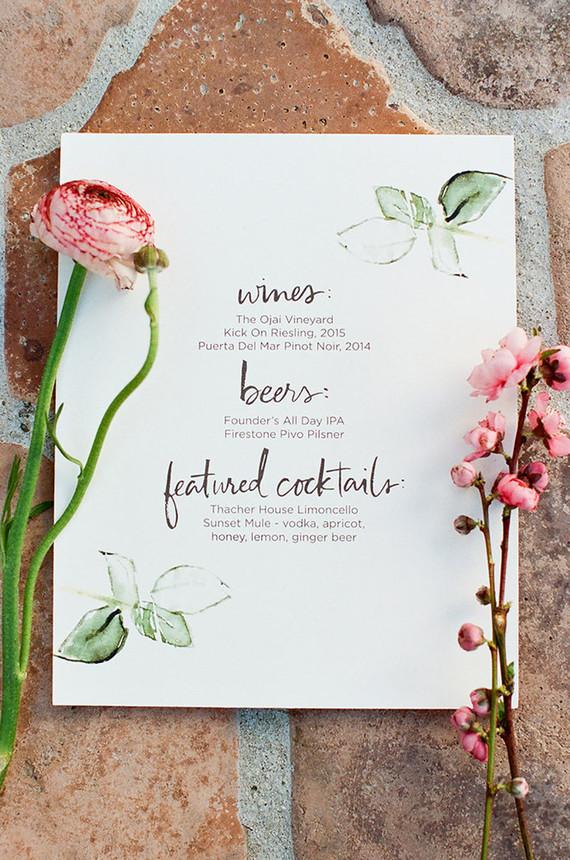 Spring menu design