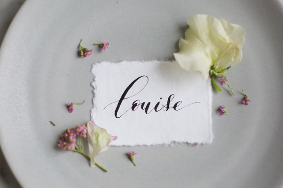 Calligraphy name card