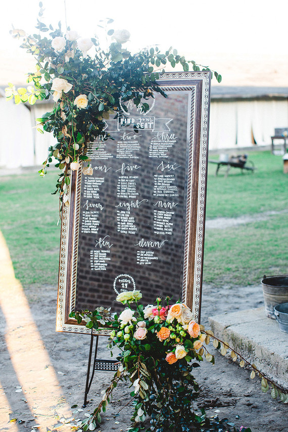 Romantic seating chart