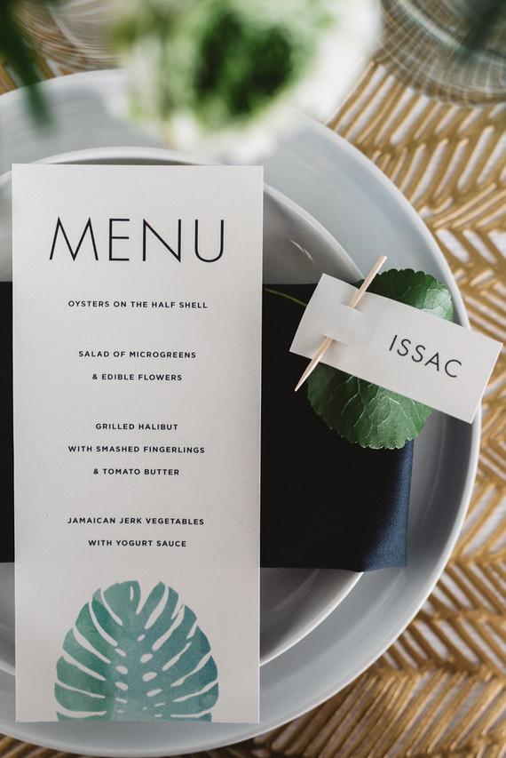 Modernt tropical menu