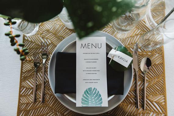 Tropical menu