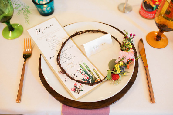 Mexican inspired place setting