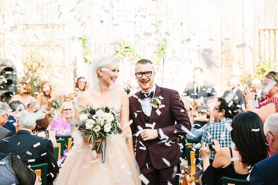 Indie wedding ceremony