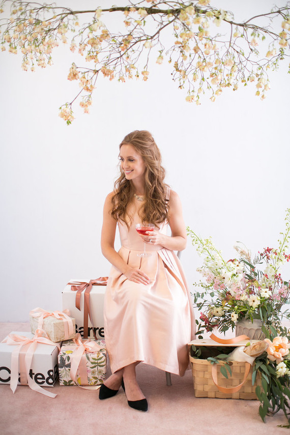 Blush floral bridal shower inspiration