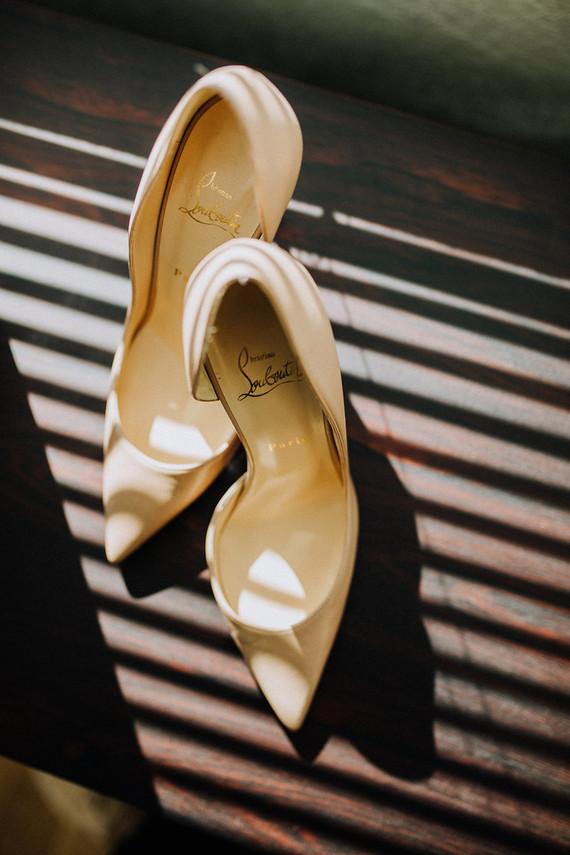 Louboutin bridal shoes