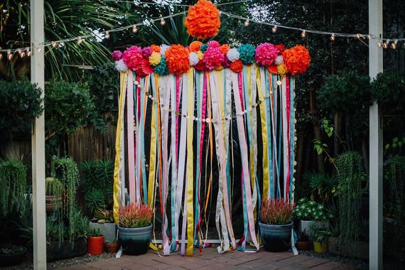 Mexican wedding backdrop