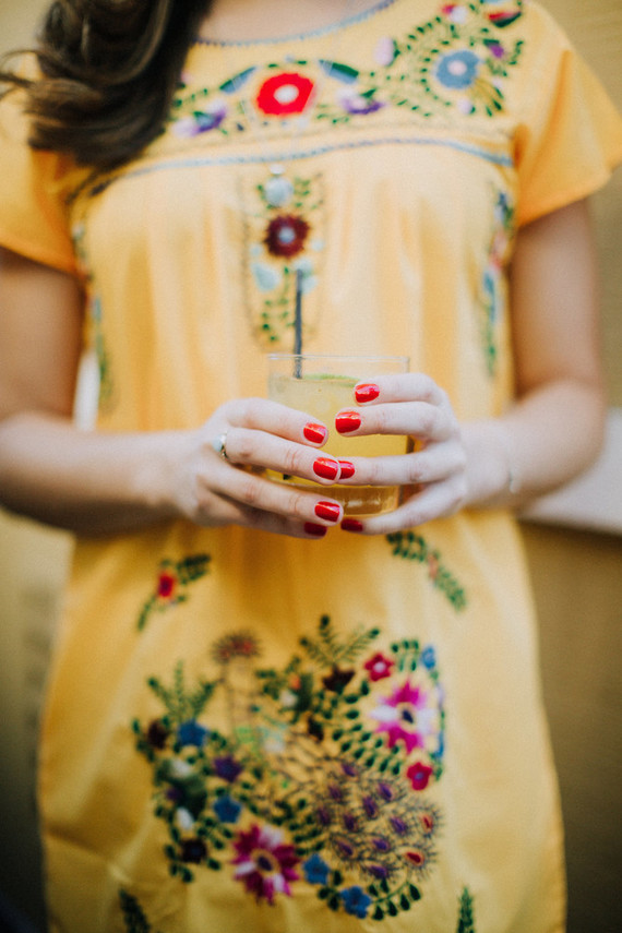Fiesta wedding cocktail