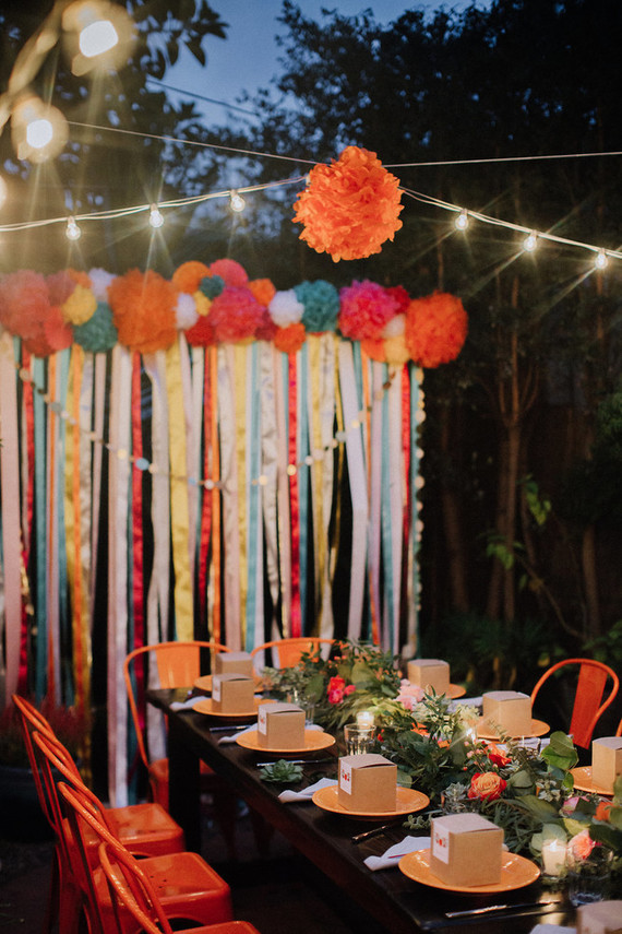 Mexican inspired backdrop