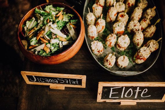 Mexican inspired wedding food