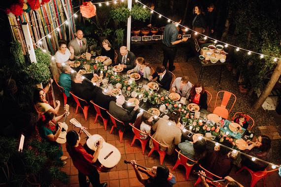 Fiesta themed wedding reception