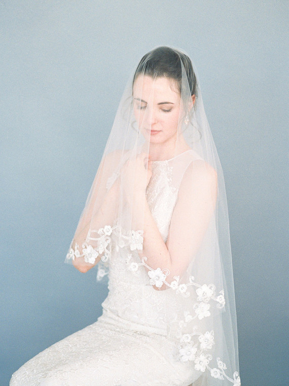 Spring bridal veil