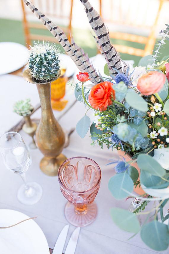 Desert wedding decor