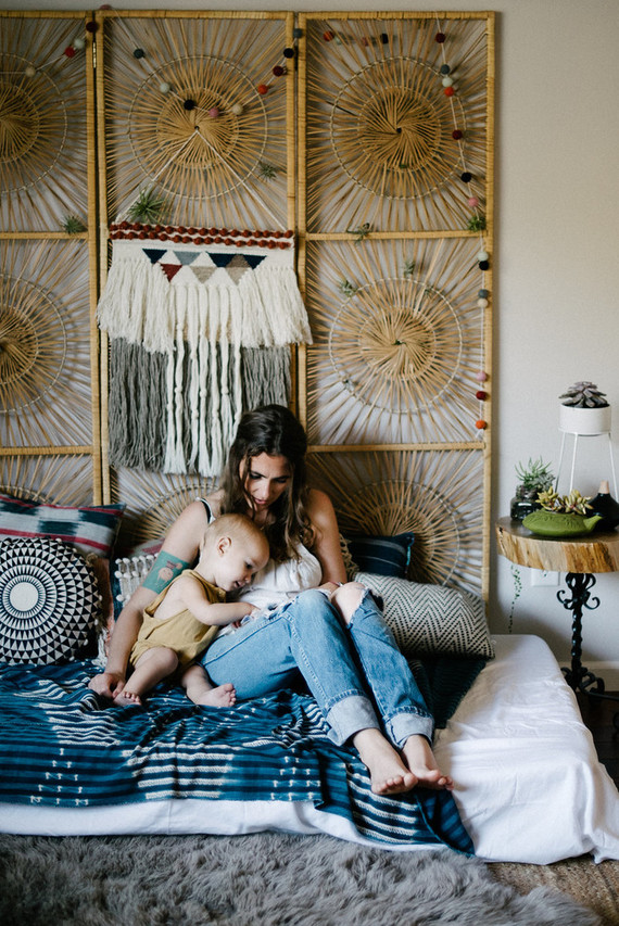 Bohemian mother-son photos