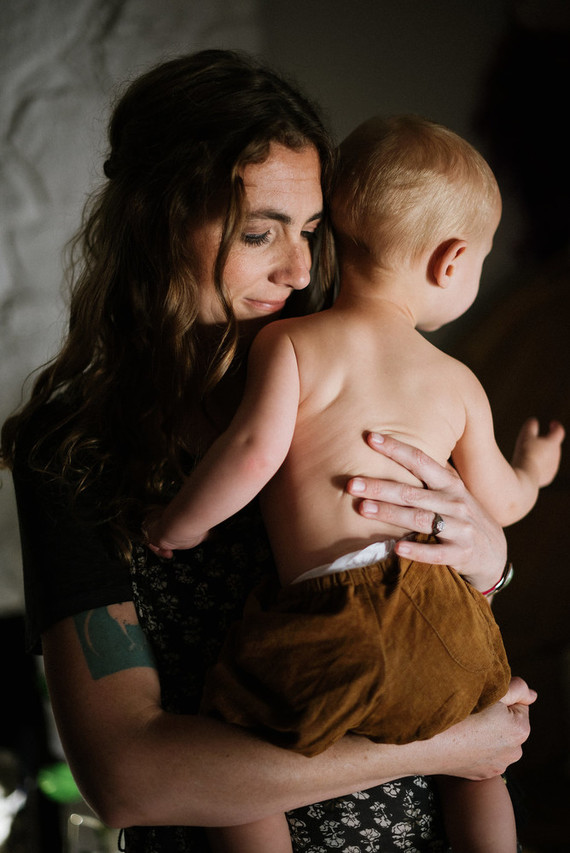 Bohemian mother-son photos