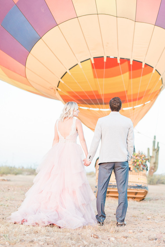 Hot air balloon wedding inspiration