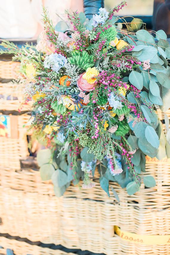 Bold wedding florals