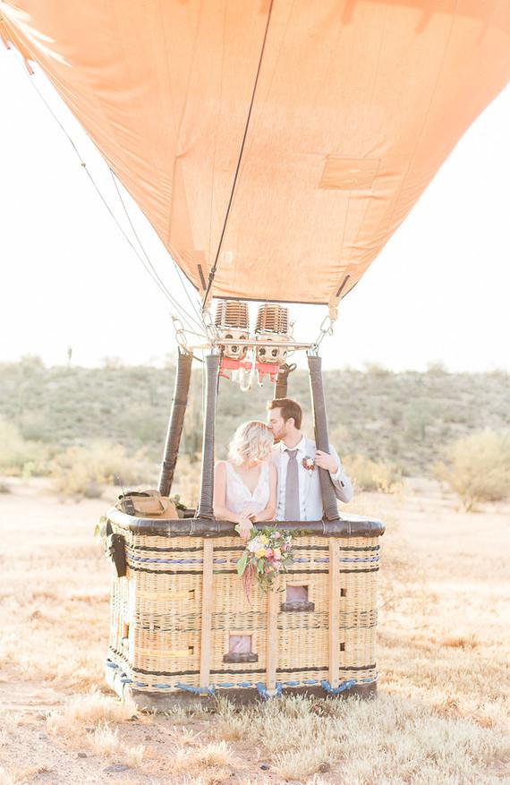 Hot air balloon portrait
