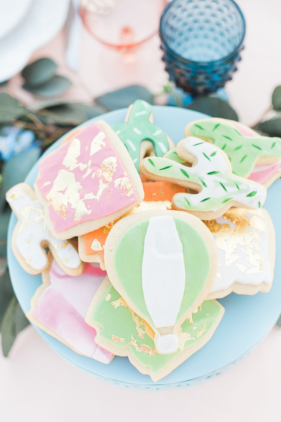 Hot air balloon cookie