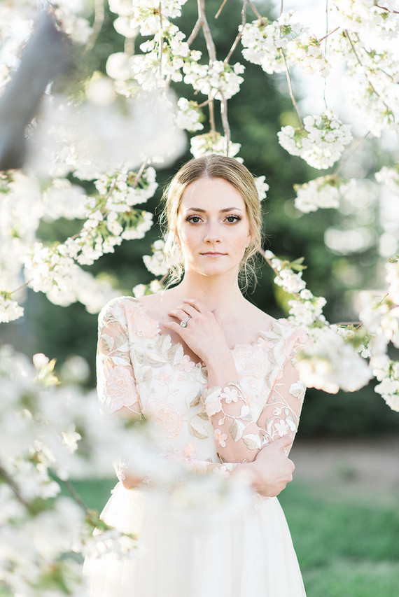 Spring bridal beauty