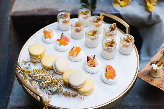 Modern wedding desserts