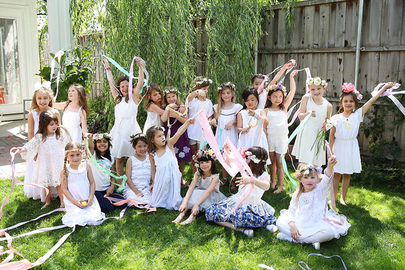 Spring girl's maypole party