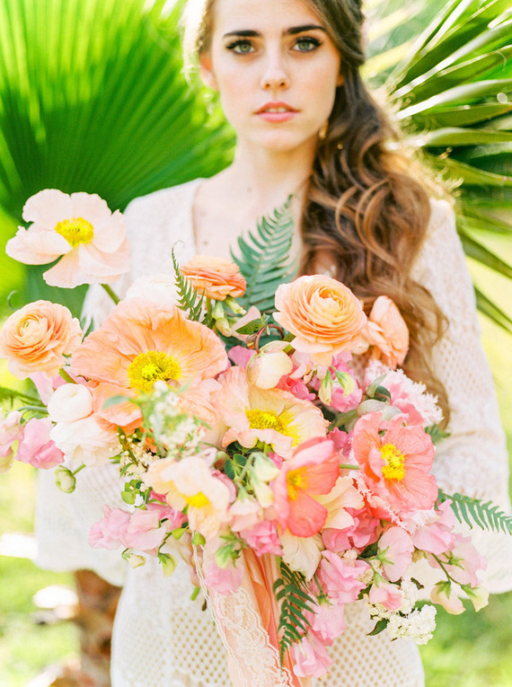 Springtime boho romance wedding inspiration