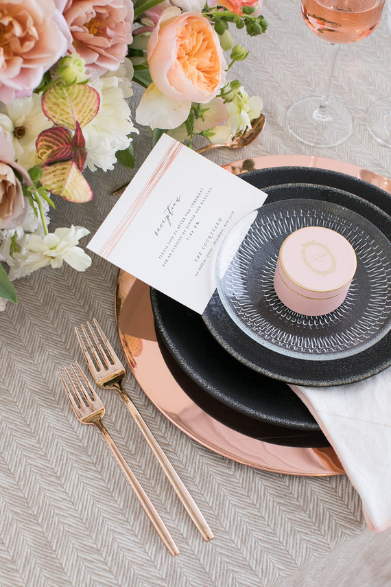 Modern custom wedding invites from Minted