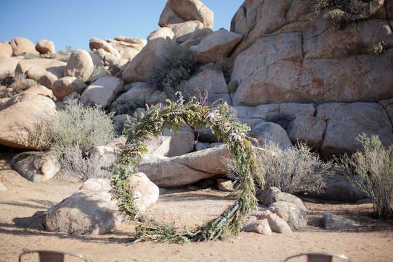 Floral ceremony hoop