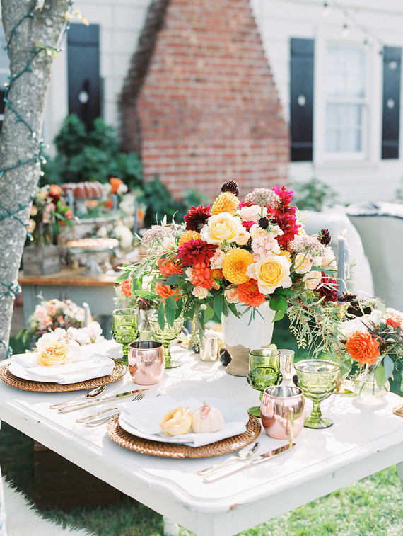 Garden vineyard wedding inspiration