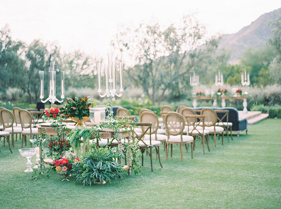 Jewel toned wedding ceremony