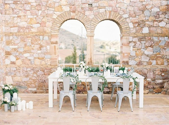 Spring Grecian tablescape