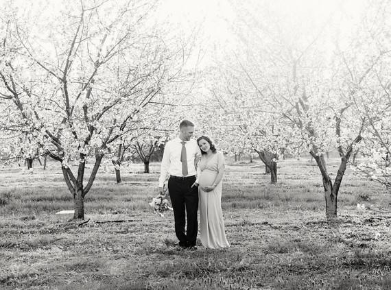 Apple blossom maternity photos