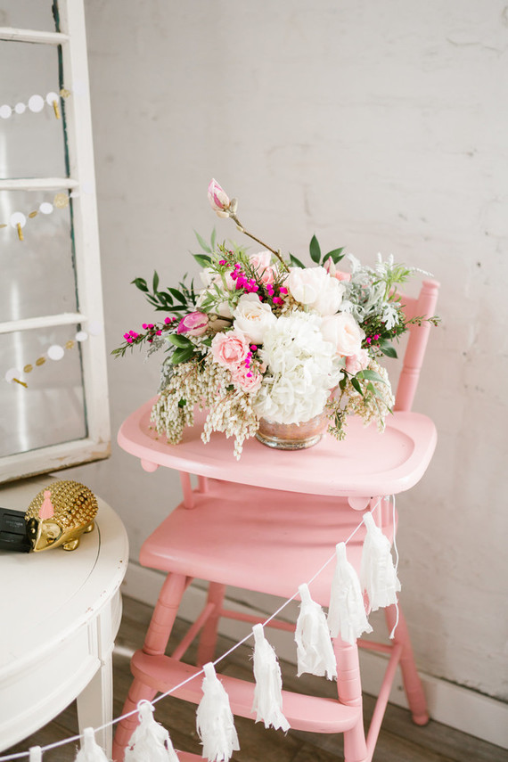 Spring pink baby shower