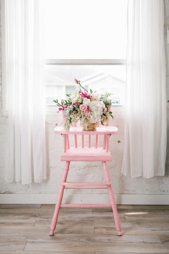 Spring pink baby shower