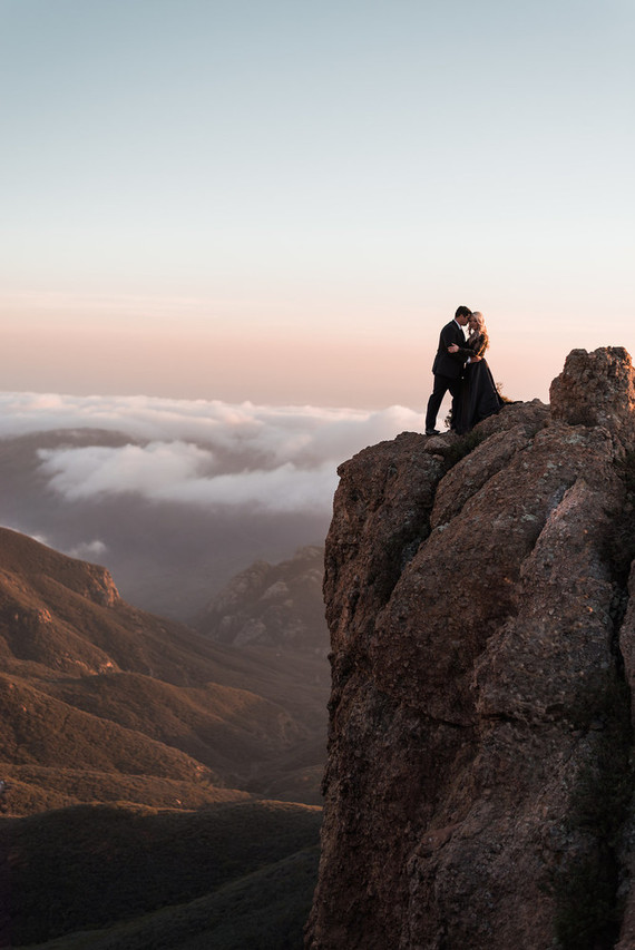 Malibu mountaintop engagement shoot